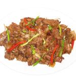 stir fried beef ginger - cunard restaurant