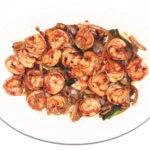 Stir Fried Shrimp with Ginger & Onions - Cunard Restaurant